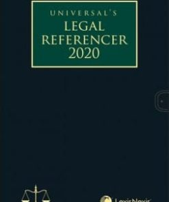 Lexis Nexis Legal Referencer 2020 (Standard Edition with flap) by Universal 1st Edition August 2019