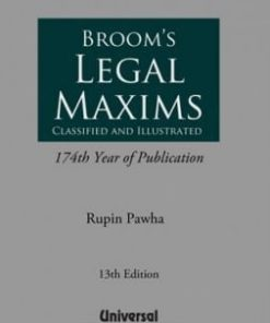 Lexis Nexis Legal Maxims by Broom 13th Edition August 2019