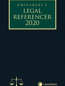 Lexis Nexis Legal Referencer 2020 (Pocket Edition) by Universal 1st Edition August 2019