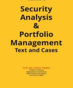 Taxmann's Security Analysis & Portfolio Management Text and Cases by Vanita Tripathi July 2019