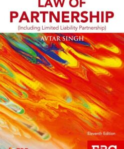 EBC's Introduction to Law of Partnership by Avtar Singh - 11th Edition 2018, Reprinted 2019