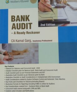 Wolters Kluwer's Bank Audit A Ready Reckoner by Kamal Garg, 2nd Edition February 2020