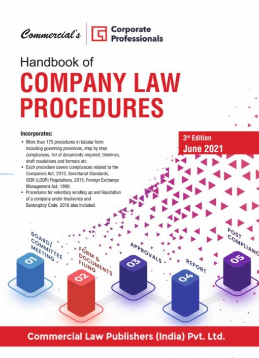 Commercial's Handbook of Company Law Procedures by Corporate Professionals - 3rd Edition June 2021
