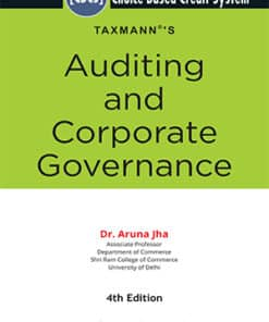 Taxmann's Auditing and Corporate Governance by Aruna Jha under CBCS - 4th Edition December 2020