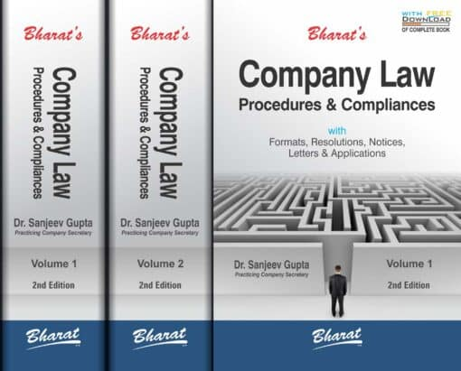 Bharat's Company Law Procedures & Compliances by Dr. Sanjeev Gupta - 2nd Edition July 2021