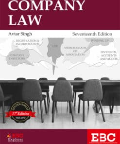 EBC's Company Law by Avtar Singh - 17th Edition 2018, Reprinted with Supplement 2021