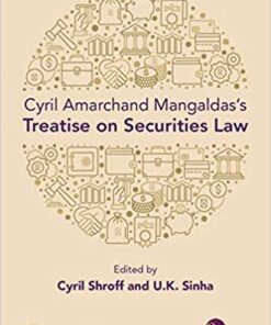 Thomson's Cyril Amarchand Mangaldas's Treatise on Securities Law by Cyril Shroff - 1st Edition 2021