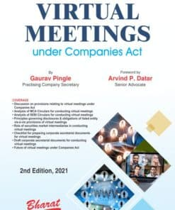 Bharat's Virtual Meetings under Companies Act, 2013 By Gaurav Pingle - 2nd Edition July 2021
