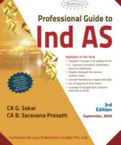 Commercial's Professional Guide to Ind AS by G Sekar - 3rd Edition September 2020