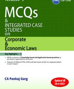 Taxmann's MCQs and Integrated Case Studies on Corporate & Economic/Allied Laws by Pankaj Garg for Nov 2021 Exams