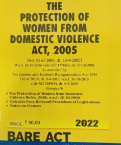 Commercial's The Protection of Women from Domestic Violence Act, 2005 (Bare Act) - Edition 2022