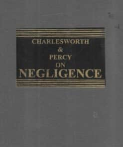 Sweet & Maxwell's Charlesworth & Percy on Negligence - South Asian Edition 2021