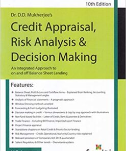 SWP's Credit Appraisal Risk Analysis & Decision Making by Dr. D.D.Mukherjee - 10th Edition 2019
