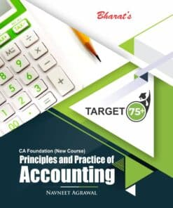 Bharat's Principles and Practice of Accounting by Navneet Agrawal for May 2021 Exams