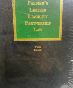 Sweet & Maxwell's Limited Liability Partnership Law by Palmer - 3rd South Asian Edition 2020