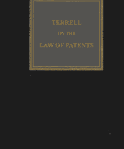 Sweet & Maxwell's Terrell on Law of Patents - 18th South Asian Edition 2020
