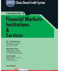 Taxmann's Financial Markets & Institutions by Vinod Kumar under CBCS - 2nd Edition July 2021