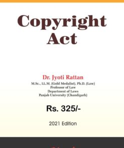 Bharat's The Copyright Act by Dr. Jyoti Rattan - 1st Edition 2021