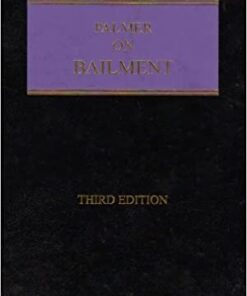 Sweet & Maxwell's Palmer on Bailment - 3rd South Asian Edition 2019