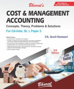 Bharat's Cost and Management Accounting by CA. Sunil Keswani for May 2022 Exam