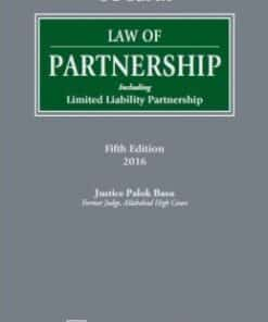 Lexis Nexis's Law of Partnership–Including Limited Liability Partnership by CL Gupta - 5th Edition 2016