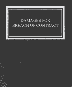Sweet & Maxwell's Damages for Breach of Contract by Richard Lawson - South Asian Edition 2021