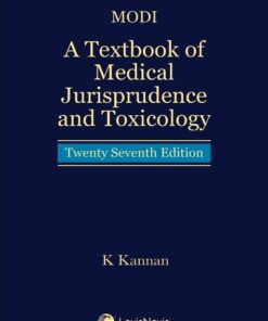 Lexis Nexis's A Textbook of Medical Jurisprudence and Toxicology (HB) by Modi - 27th Edition 2021