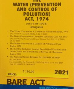 Commercial's The Water (Prevention and Control of Pollution) Act, 1974 (Bare Act) - Edition 2021