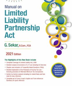 Commercial's Manual on Limited Liability Partnership Act by G. Sekar - 1st Edition 2021
