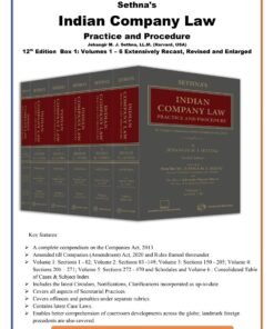Thomson's Indian Company Law by Jehangir M. J. Sethna - 12th Edition 2021