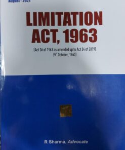 B.C. Publication's The Limitation Act, 1963 by R Sharma - 1st Edition August 2021