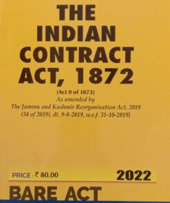 Commercial's The Indian Contract Act, 1872 (Bare Act) - Edition 2022