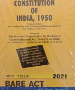 Commercial's The Constitution of India, 1950 (Bare Act) - Edition 2021