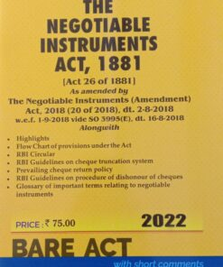 Commercial's The Negotiable Instruments Act, 1881 (Bare Act) - Edition 2022