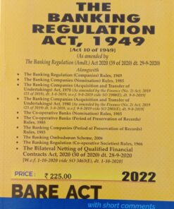 Commercial's The Banking Regulation Act, 1949 (Bare Act) - Edition 2022